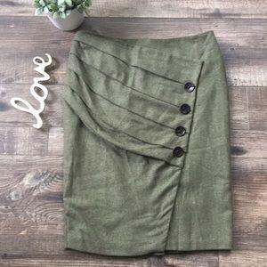 Anthropologie Eva Franco Wool Pencil Skirt